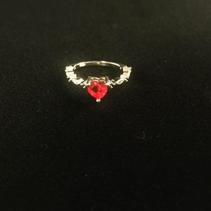 Ruby Res Heart Ring
